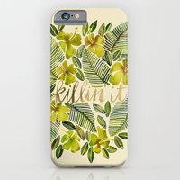 iPhone Cases featuring Killin' It – Tropical Yellow by Cat Coquillette