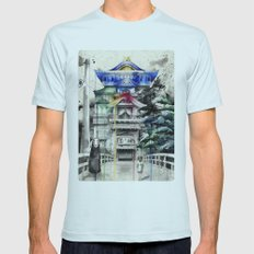 Spirited Away Mens Fitted Tee Light Blue SMALL