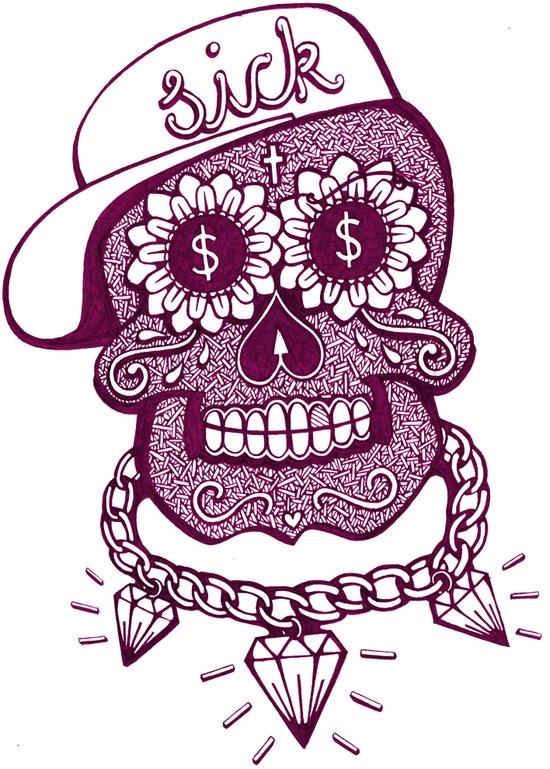 Sugaskull Art Print