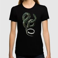 Jungle Snake Womens Fitted Tee Black SMALL