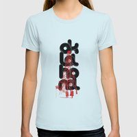 Oil-klahoma  Womens Fitted Tee Light Blue SMALL
