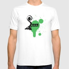 SAVE ANIMALS White Mens Fitted Tee SMALL