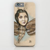 iPhone & iPod Case featuring MOTH LADY by busymockingbird