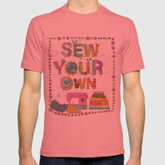 Sew Your Own Mens Fitted Tee Pomegranate SMALL