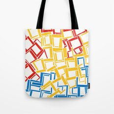 rectangles in primary colours Tote Bag