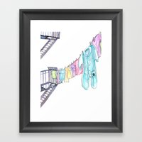 Big Baby Framed Art Print