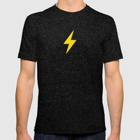 Fast Flash Mens Fitted Tee Tri-Black SMALL