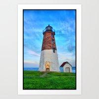 Point Judith Lighthouse HDR Art Print