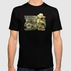 My Scooter Mens Fitted Tee Black SMALL