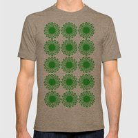 Vintage Flower_Green Mens Fitted Tee Tri-Coffee SMALL