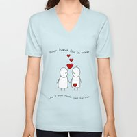 Hold My Hand  Unisex V-Neck