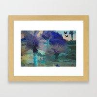 TheDesert blue -By Sherri Of Palm Springs Framed Art Print