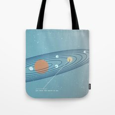 You Mean the World To Me Tote Bag