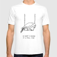 Caged Bird Mens Fitted Tee White SMALL