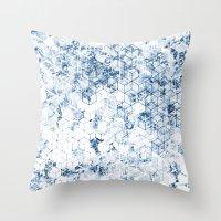 Flower Cubes Throw Pillow
