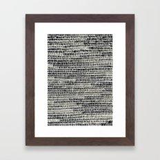 Watercolour Lines Framed Art Print