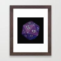 Critical Hit - Purple Framed Art Print