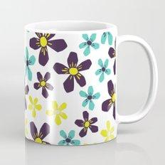 Yellow and Blue Flower Mug