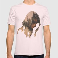 Lost In Thought Mens Fitted Tee Light Pink SMALL