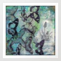 Butterfly Migration Art Print