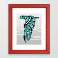 Hawk Deco II Framed Art Print
