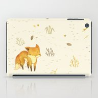 iPad Case featuring Lonely Winter Fox by Teagan White