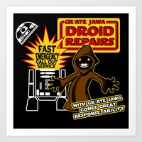 Gr'Ate Jawa Droid Repairs Art Print