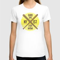 Self Guard Womens Fitted Tee White SMALL
