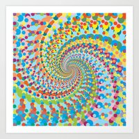 Colour Mix Spiral Art Print