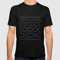 Between Waves Mens Fitted Tee Tri-Black SMALL