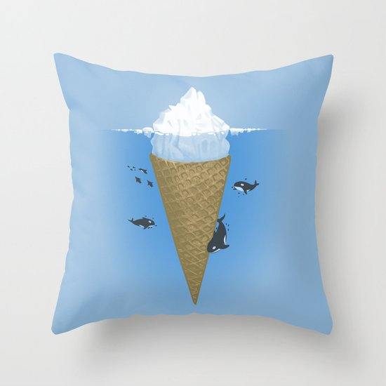Hidden part of icebergs Throw Pillow