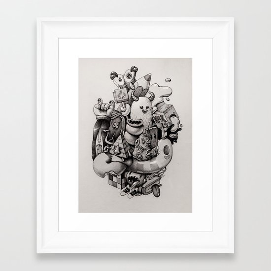 doodles Framed Art Print