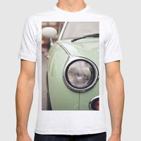 The green car Mens Fitted Tee Ash Grey SMALL