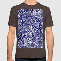 Modern Navy Blue Indigo … Mens Fitted Tee Brown SMALL