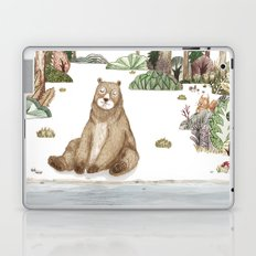 Mr.Brown is chilling by the river. Laptop & iPad Skin