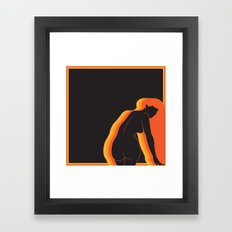 GET CHEEKY  Framed Art Print