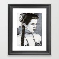 Slave Leia Framed Art Print