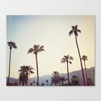 Palm Trees in the Desert Canvas Print