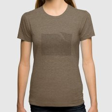 Erosion & Typography 2 Womens Fitted Tee Tri-Coffee SMALL