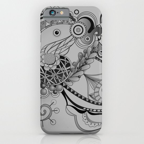 Ornate spring tangle, charcoal grey iPhone & iPod Case