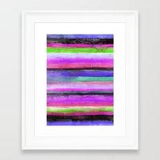 Watercolour Stripe Framed Art Print