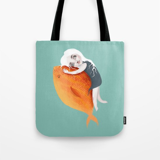 The Fish Girl Tote Bag