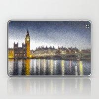 Westminster At Night Snow Laptop & iPad Skin