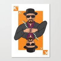 Walter White king of clubs Canvas Print