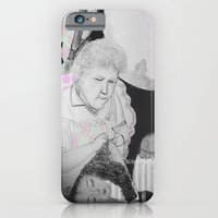 iPhone & iPod Case featuring old woman by noudi