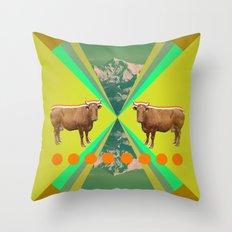 Cow's Reflexion Throw Pillow