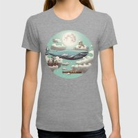 Ocean Meets Sky  Womens Fitted Tee Tri-Grey SMALL