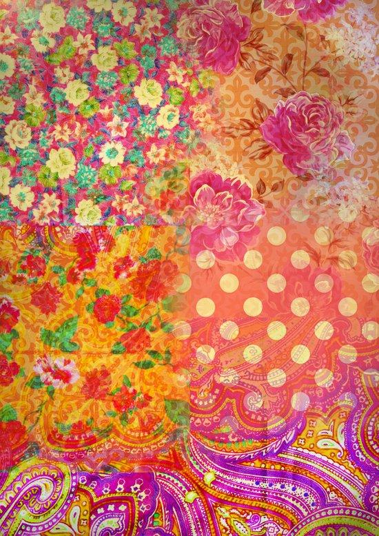 Retro patterns Art Print