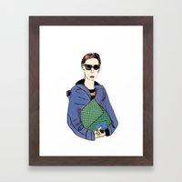 Bag Lady Blue Framed Art Print