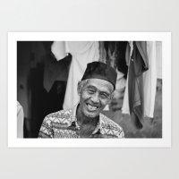 Indonesian Smile Art Print